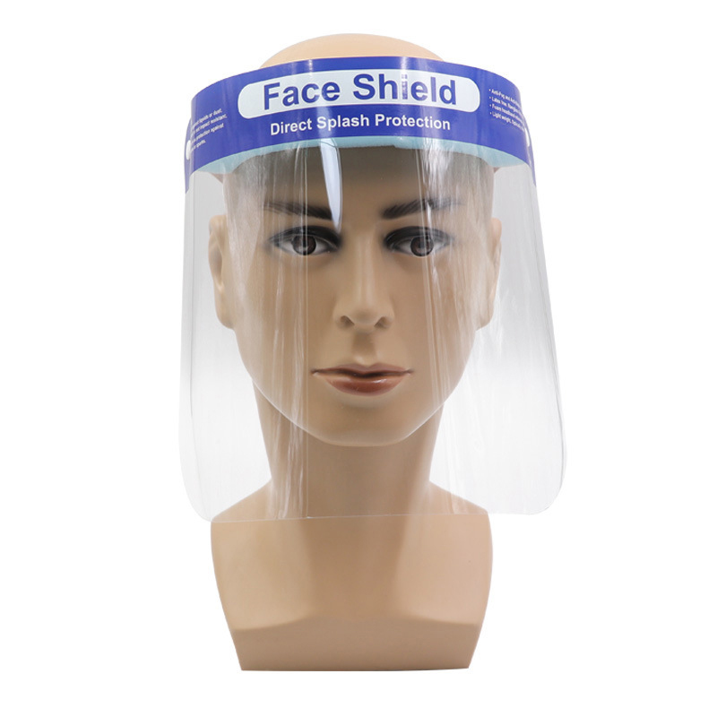Anti Droplet Full Face Cover Mouth Mask Visor Shield Droplet Face Shield Transparent Mask Windproof Mask In Stock