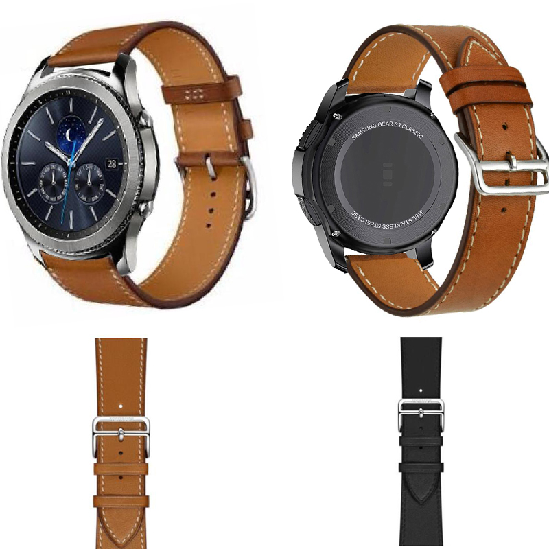22mm <font><b>amazfit</b></font> 3 2s 1 GTR pace bracelet Ticwatch S S2 1 pro Huawei GT 2 honor strap for samsung galaxy watch 46mm s3 Leather band image