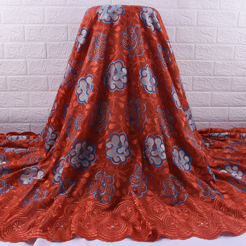 Zhenguiru Swiss Voile Lace In Switzerland 5 Yards African Lace Fabric With Rhinestone Nigerian Tulle Lace Fabric For Party A1861