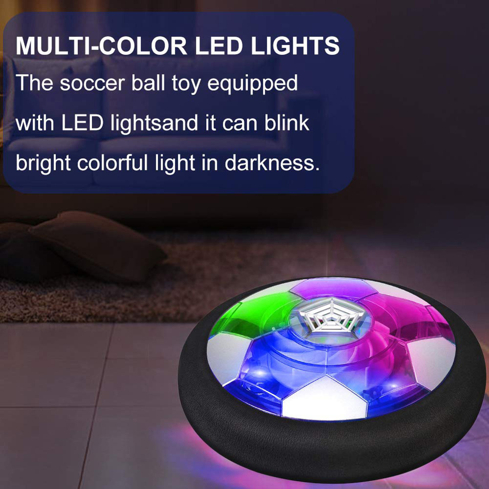 Electric Magnetic Suspension Soccer Disk Latest Indoor Game Toy Led Light  Glowing Sport Game Gift For Your Beloved Children