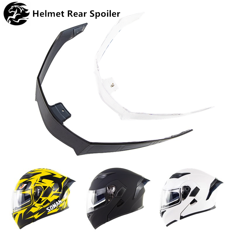 Helmet Spoiler Motorcycle Helmet Accessories For Full Face Motorbike SM955 Helmets Decoration Rear Wing Part Moto Rear Spoiler
