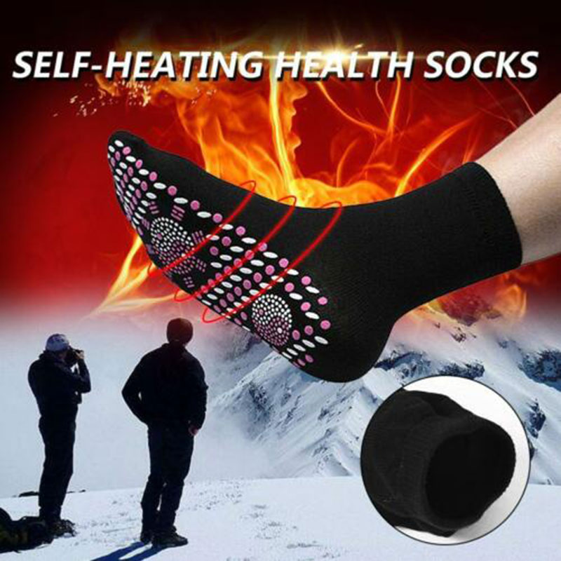 1 Pair Self Heating Health Socks Care Breathable Magnetic Comfortable Massage Can CSV