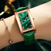 CHENXI – montre à Quartz en cuir pour femmes, marque de luxe, élégante, vert Malachite, étanche
