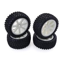 4Pcs Front and Rear Tires & Wheels Set 12mm Hex Hubs Foam Inserts for Redcat HPI Exceed RC 1/10 Off Road Buggy Tyre цена в Москве и Питере