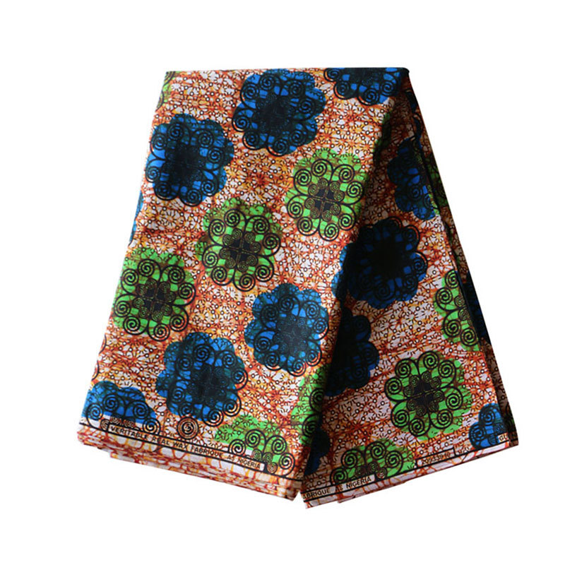 2019 New 100% Cotton Veritable Wax Guaranteed Real Wax Fabric 6yard/lot African Print Cloth Material