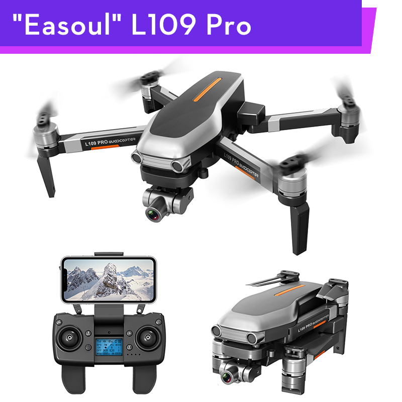Easoul L109 L109Pro RC <font><b>Drone</b></font> HD 4K Camera 2AXIS Gimbal GPS <font><b>5G</b></font> FPV 1.2km 25min Flight Brushless Motor RC Quadcopter Helicopter image