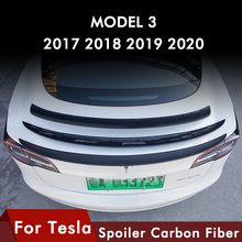 Heenvn Model3 High Performance Version Trunk Wing Spoiler For Tesla Model 3 Spoiler Real Carbon Fiber Model Three Accessories