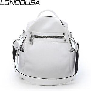 Fashion Women Soft Leather Small Backpack Designers Brand Multifunction Solid School Bags for Teenage Girls Mochila Feminina(China)