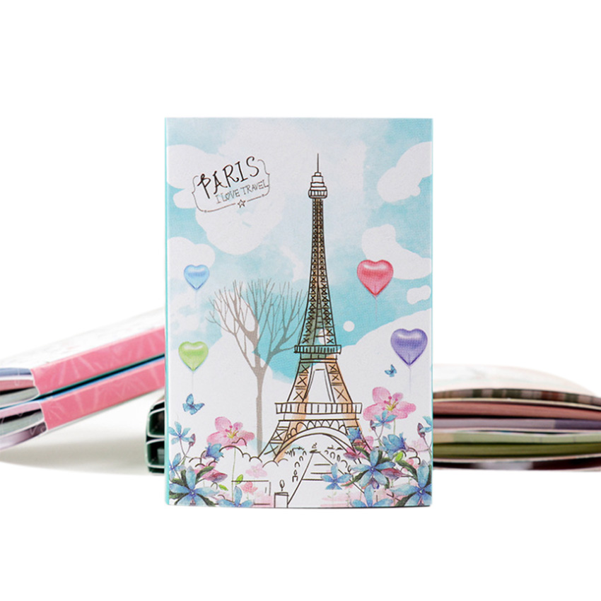 1pack/lot Paris Tower Six Fold Notepad Book Random Cute Memo Sticker Study Office Supplies Index Sticky Notes Kawaii Stationery