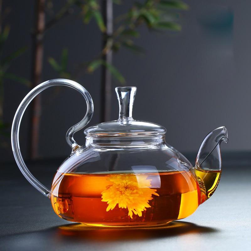 Borosilikat ısıya dayanıklı cam çaydanlık ev tarafı şeffaf yüksek sıcaklığa dayanıklı çaydanlık kaynar yüksek kolu Squirr