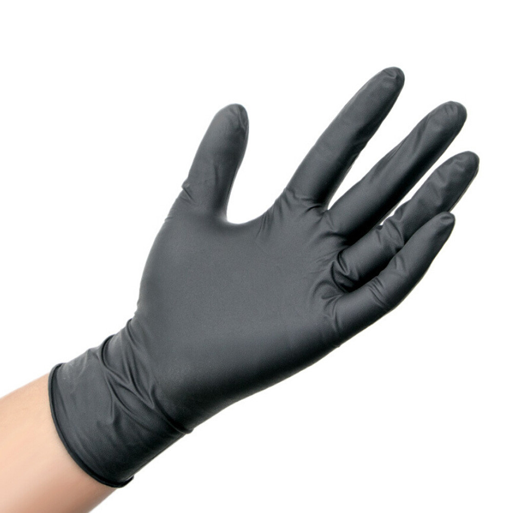 1 Pair Cleaning Gloves Comfortable Rubber Disposable Mechanic Nitrile Gloves Black Dish Protective Work Gloves