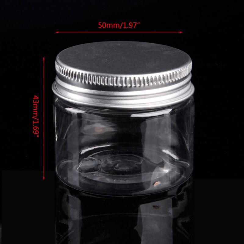Купить с кэшбэком 30ML-250ML Aluminum Cap Cosmetic Tin Pot Lip Balm Jar Containers Oil Wax Empty