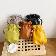 2020 新女性のバッグ pu レザーユース巾着バケットバッグ日本福袋女性のハンドバッグスモールクロスボディショルダーバッグ全体販売
