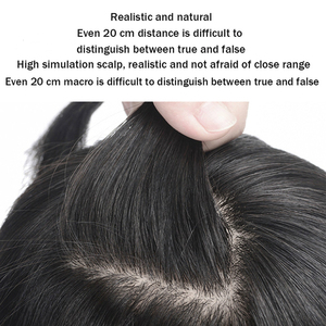 Image 3 - Allaosify High Temperature Fiber Synthetic Clips In Hair Extensions for Women Hairpieces Black Brown Hair Topper Clip In Closure