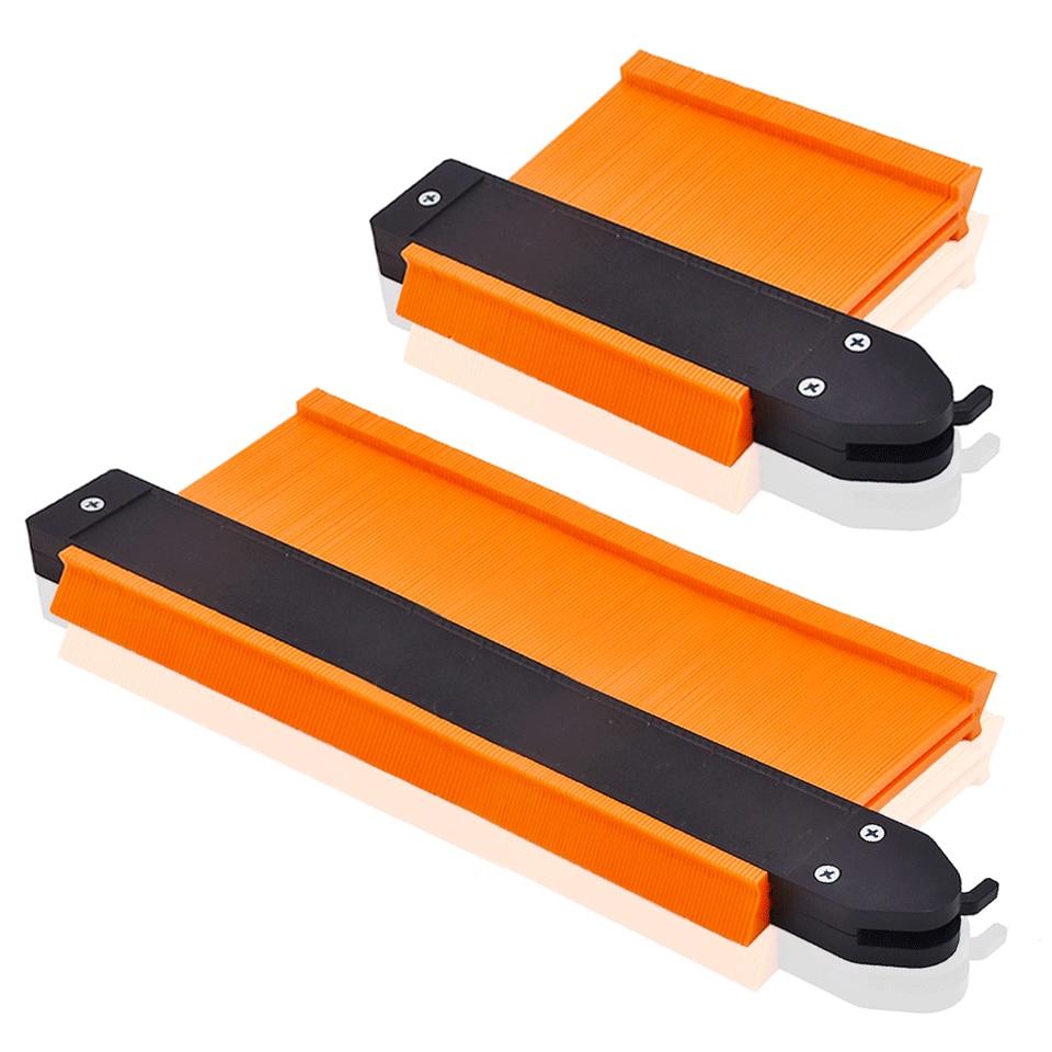 GOXAWEE 5/10 Inch Contour Gauge Profile Copy Contour Gauges Measuring Ruler Scale Template Wood Tiling Laminate Marking Tools