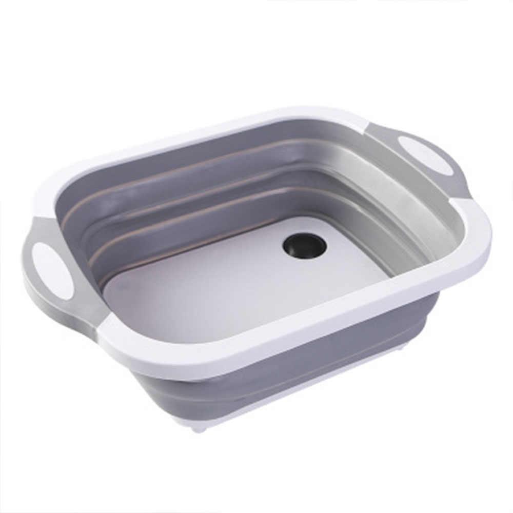 Кухонная разделочная доска WALFOS, складная разделочная доска с кухонной разделочной доской, закрытый сеткой слив, органайзер для кухни