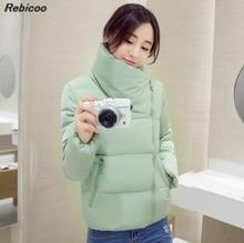 Stand collar 2019 winter jacket womens three-dimensional fashion basic autumn short