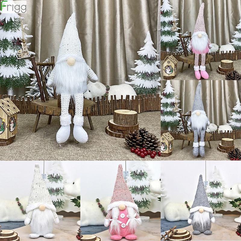 Рождественская безликая гнома, Санта, рождественская елка, подвесное украшение, кукла, украшение для дома, Рождественский кулон, подарки с н...