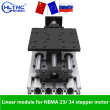 100mm 1100mm travel table  Linear module ballscrew sfu1605 1610 with Linear Guides SBR16 SBR16UU for NEMA 23 34 stepper motor