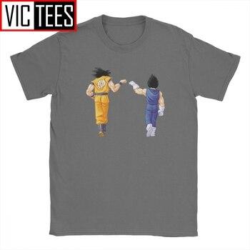Goku Vegeta Majin Buu Frieza Gotenks Vs Reality Dragon Ball T Shirt Men Cotton T-Shirts Anime Tees Big Size