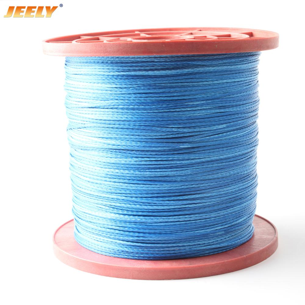 JEELY 1.3mm 353lbs UHMWPE Braided Fishing Line 10M 6 Strand