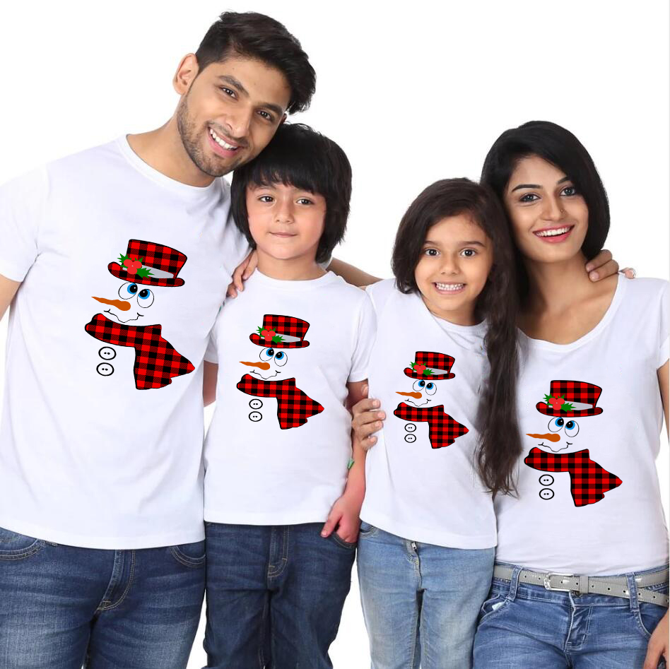 Merry Christmas Mommy Dad And Children Tshirt Christmas Party Clothes Family Matching Clothes Fashion Wear Tops Tee Shirts