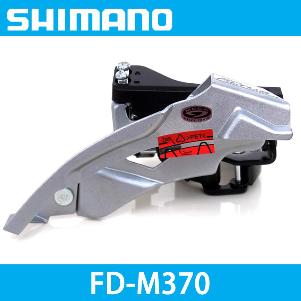 SHIMANO Altus FD-M370 Front Derailleurs MTB Bike Mountain Bicycle shifters Parts for 3x9S 27S Speed Down Swing Clamp Band Mount