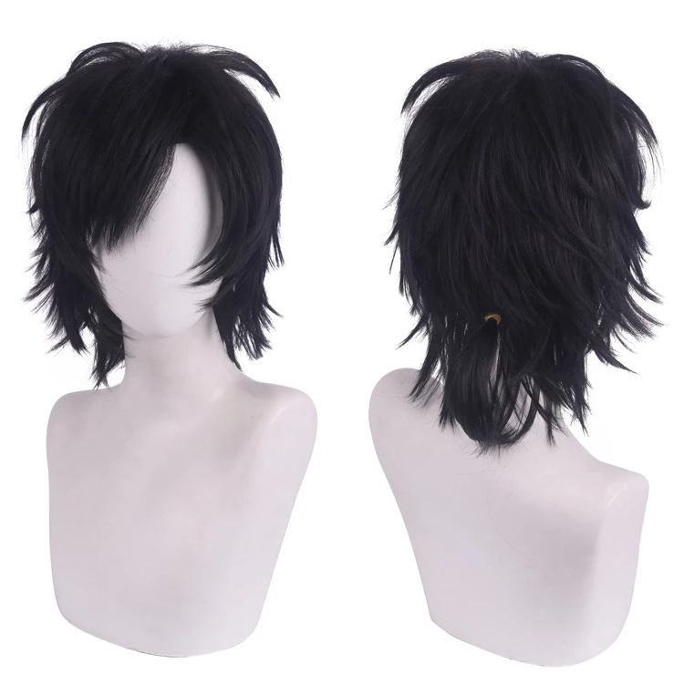 de fibra resistente ao calor peruca de cabelo para o dia das bruxas