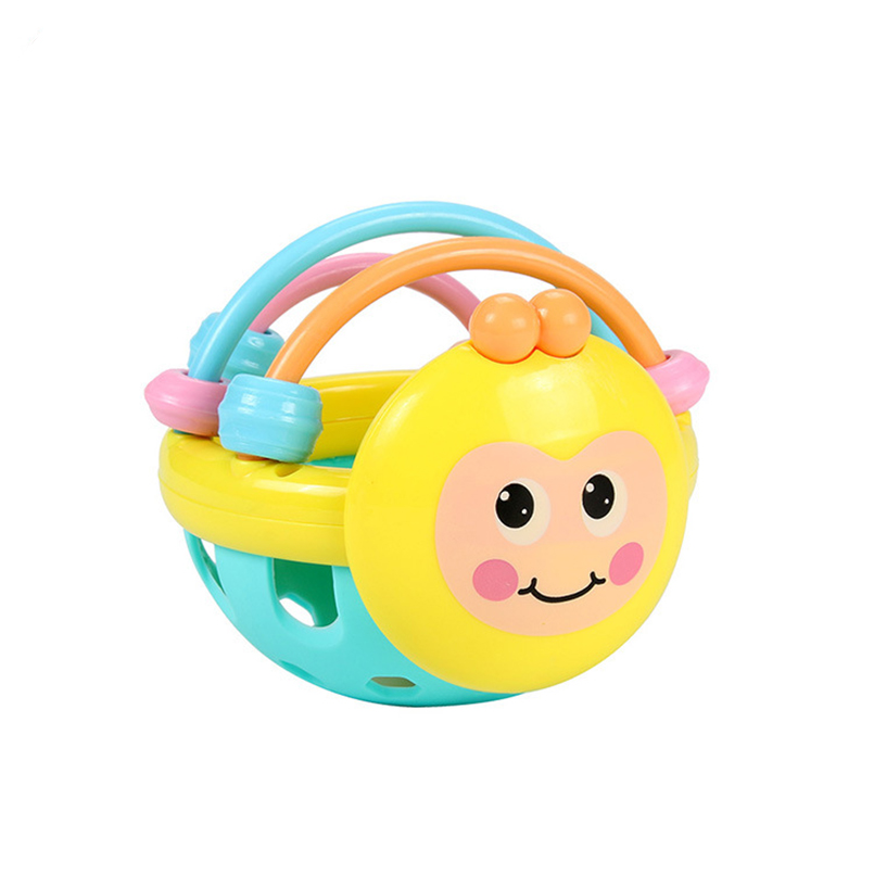 Baby Toys Hand Hold Shaking Bee Soft Fitness Ball Baby Rattle Musical Educational Bed Bell Ring Teether Toys For Newborn Baby