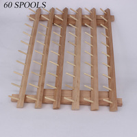 12/60/120 Foldable Wood Spool Thread Stand Rack Organizer Wall Mount Embroidery Machine Storage Holder Sewing Accessories Home