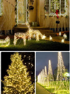 Decors Led-String-Lights Holiday-Lighting-Garland Christmas Wedding-Party Garden Outdoor