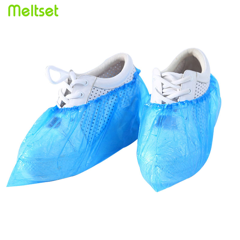 100Pcs/lot Disposable Shoe Cover Plastic Boot Covers Waterproof Foot Cover Protect Rainproof Women Men Shoes Covers