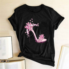 Harajuku Fashion Tee Graphic Tees Women Print T-shirt Slim Fit Cute Gi