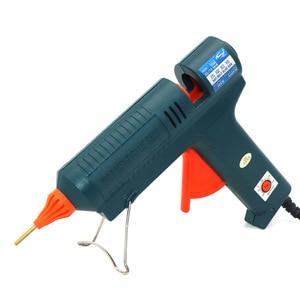 Image 2 - Boquilla de pistola de pegamento de fusión en caliente, larga de cobre de 150W, temperatura ajustable para barras de pegamento de 11mm, pistola de pegamento adhesiva industrial profesional