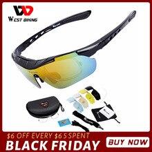 WEST BIKING occhiali da ciclismo polarizzati occhiali da sole antiappannamento occhiali da bicicletta sportivi con montatura Mypia occhiali da bici MTB occhiali