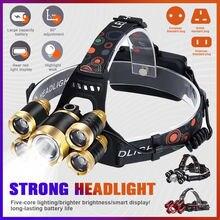 Мощный светодиодный налобный фонарь супер яркий головной светильник