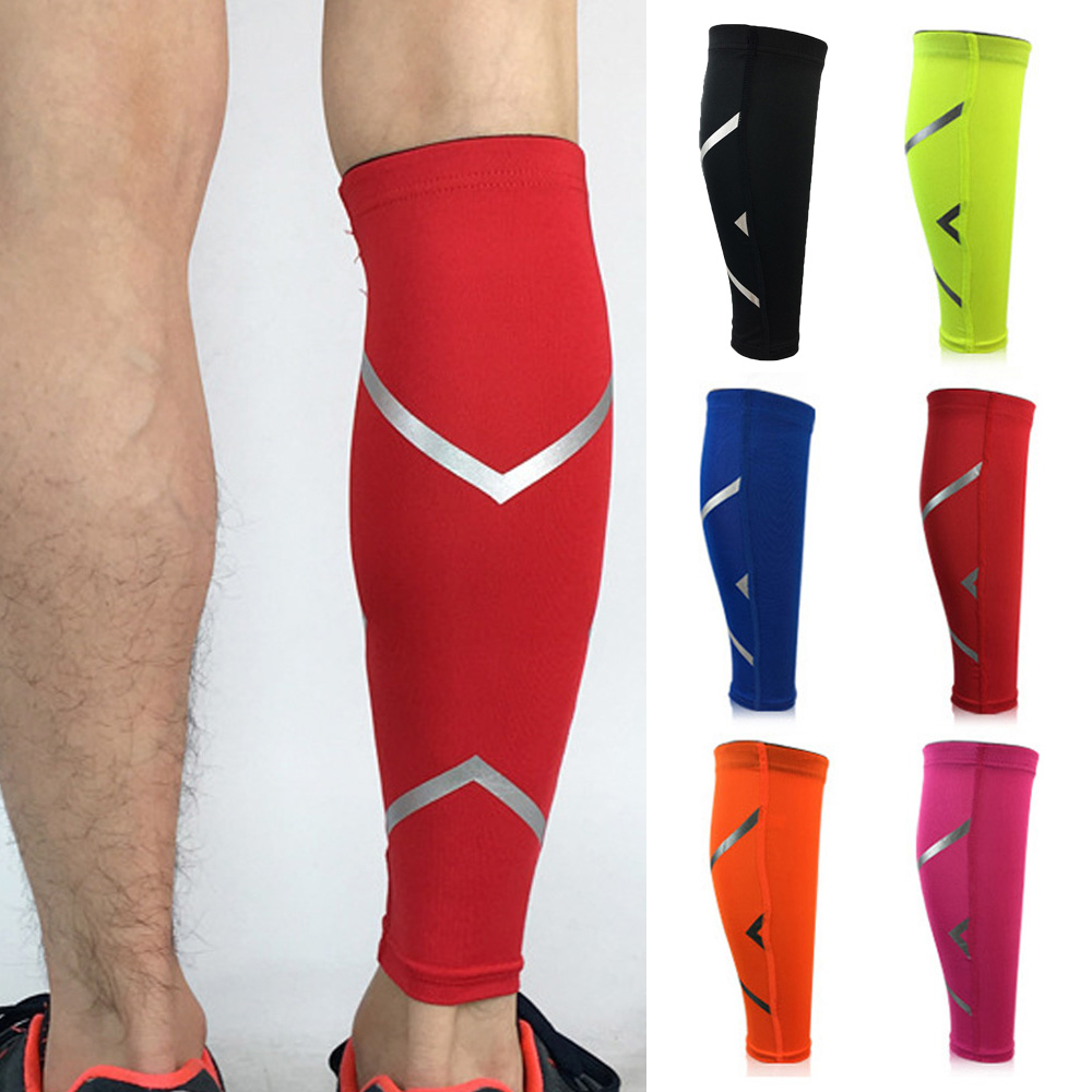 Sport Leg Socks Sleeve Fashion Reflective Strip Support Lower Leg Basketball