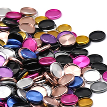 Fromthenon 11 Pcs Binding Ringe Farbe Aluminium Legierung Disc Ring Pilz Loch Lose-blatt Notizblock Discs Bindung 24/28/32/38mm