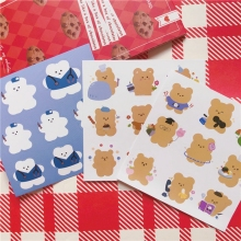 Kawaii Soft Bear Stickers Kids DIY Scrapbooking Stickers Mobile Phone Decorative Sticker School Supplies Escolar Papeleria