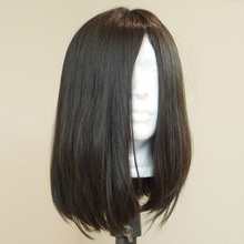 Sheitels – perruque Bob naturelle, cheveux humains, lisses, soyeux, Style européen, couleur naturelle