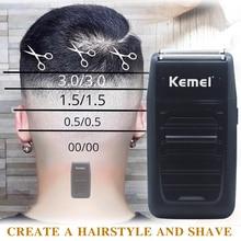 Kemei KM 1102 נטענת מכונת גילוח לגברים פנים טיפול מכונת גילוח תכליתי גברים של חזק מכונת גילוח גוזז כפול הדדיויות