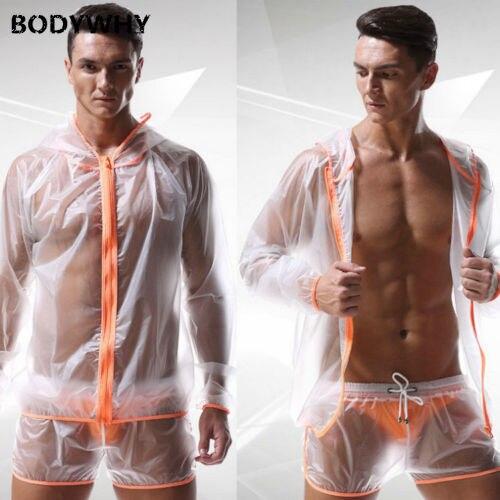 Fashion Men's Sexy Translucent Waterproof Sports TOP Beach Shorts Pants Sweat Suits Men  Sweatsuits Tracksuit