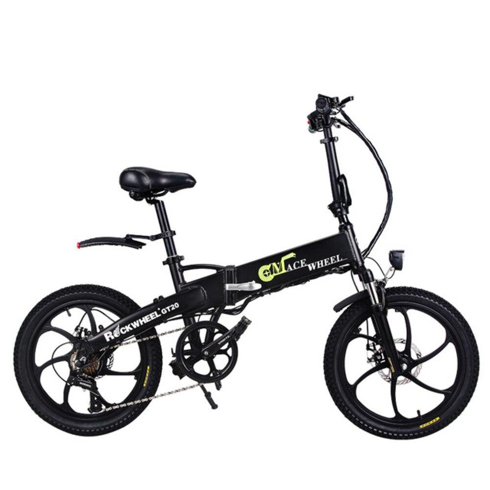 Armazém de euros 20 Polegada Bicicleta Elétrica 48v350w Bateria De Lítio Removível Oculta de Montanha de Dobramento Bicicleta Elétrica E moto-Velocidade 35 kmh