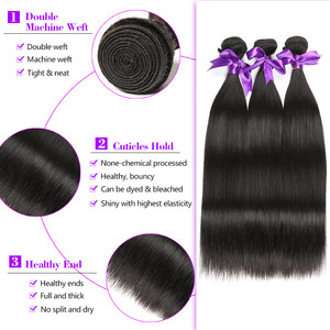 Image 3 - Straight Hair Bundles Brazilian Hair Weave Bundles 100% Human Hair Bundles Gossip Remy Hair Weave 1/3/4 Bundles Hair Extension