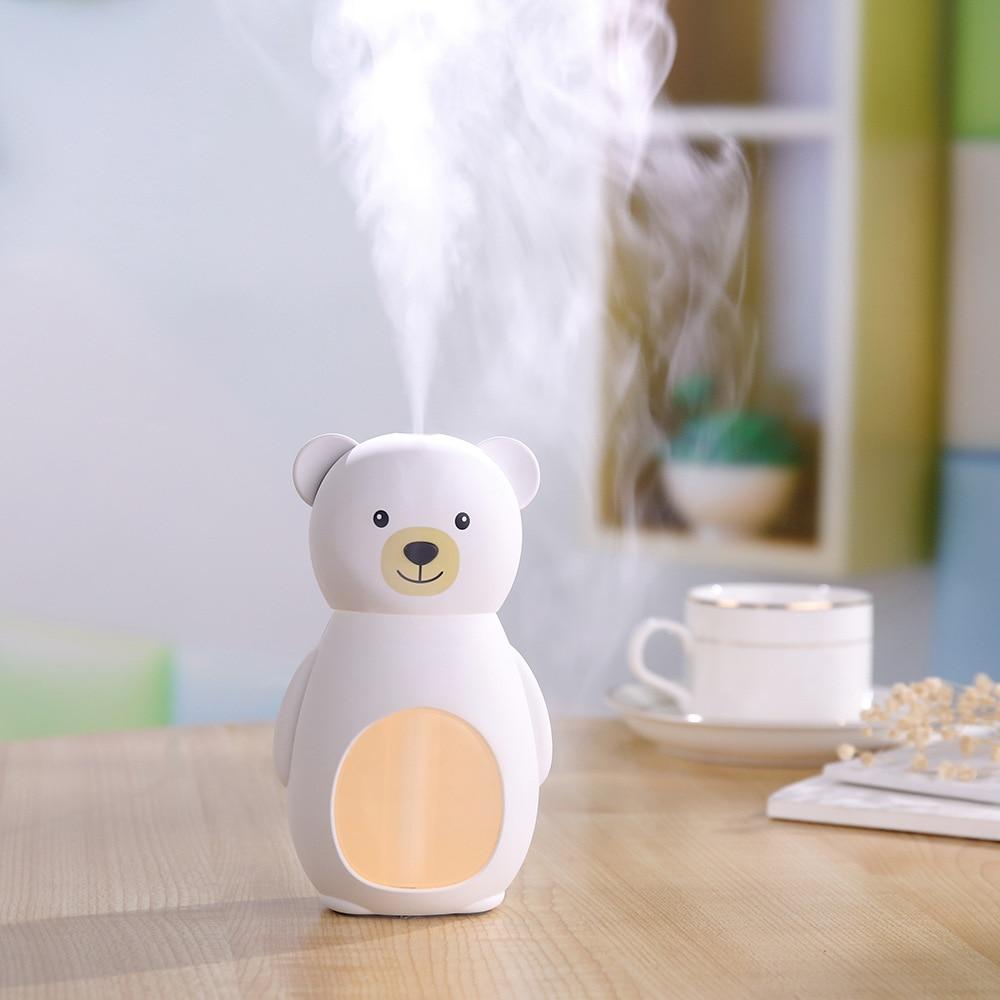 Creative Cartoon Bear Mini Humidifier USB Household Desktop Office Air Cleaner Night Light Wholesale