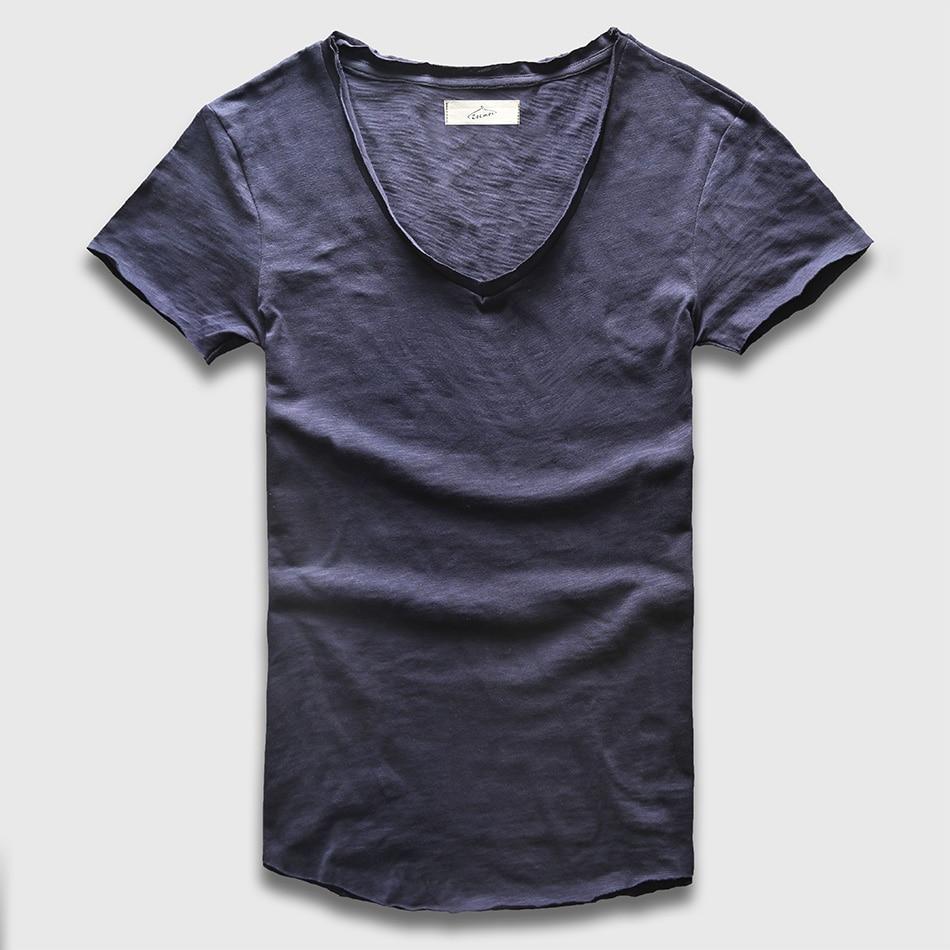 Men/'s Casual Slim Fit Deep V Neck Summer Long Sleeve Basic T-shirts