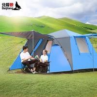 خيمة تخييم أوتوماتيكية بالكامل مزودة ببابين و3 4 أشخاص خيمة عائلية بجودة عالية خيمة للسفر العائلي-في خيام من الرياضة والترفيه على