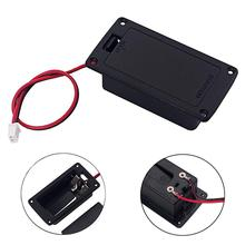 Bass Guitar Active Pickup 9V 6F22 Battery Box Holder Case with 2 Pin Plug Wire