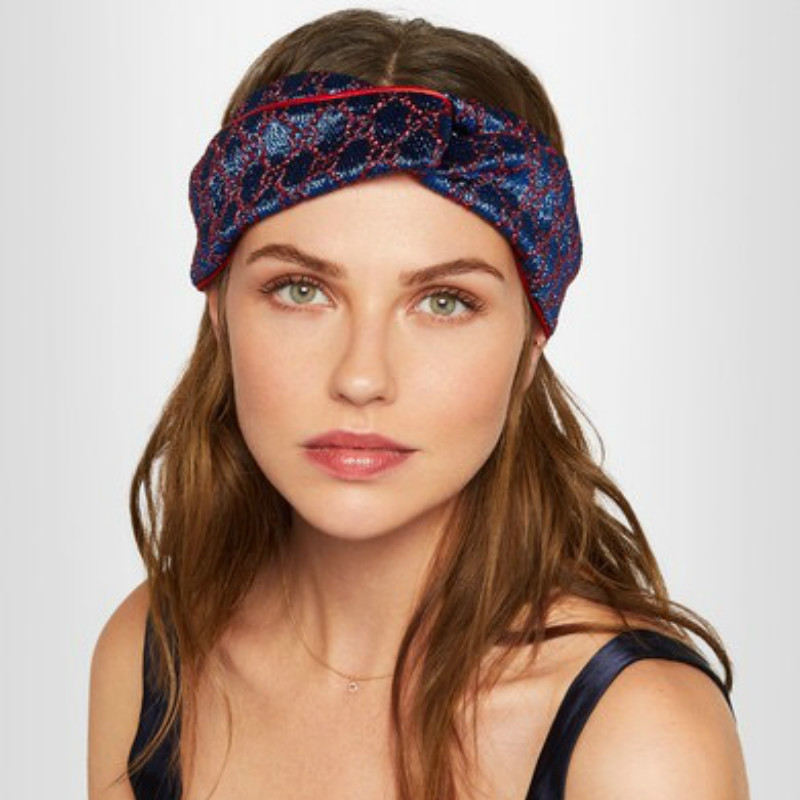 2020 Hair Bands For Women Silk Headband Jacquard Weave Satin Bonnet Elastic Twist Turban Headwrap Letter Retro Haar Accessoires