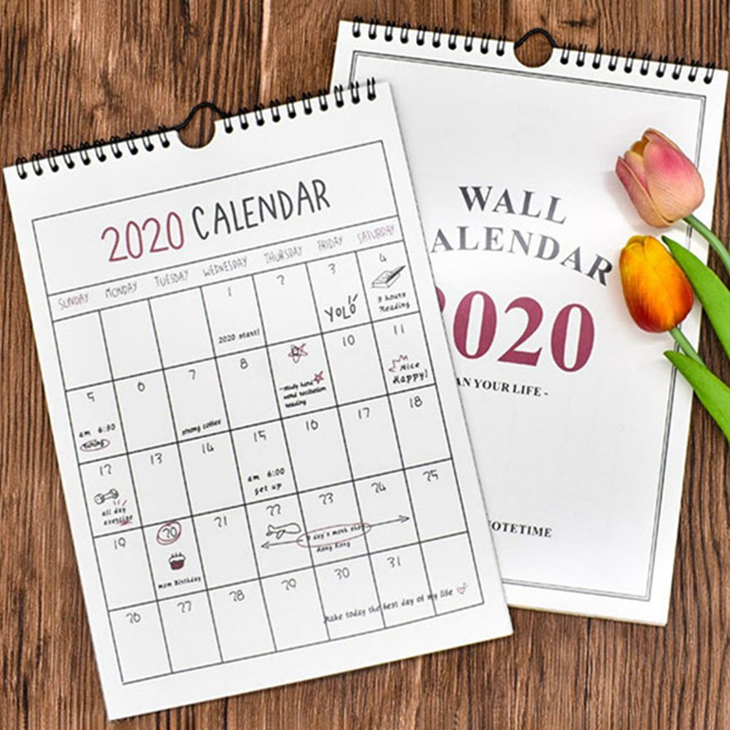 DIY 2020 Planner Calendar Learning Schedule Periodic Planner Table Hand-painted Gift For Kids Study Planning Learning Supplies